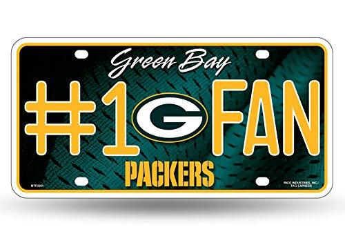 Zipperstop Green Bay Packers NFL #1 Fan Metal License Plate by Zipperstop