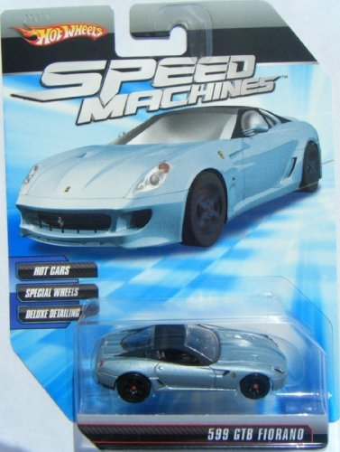 (Hot Wheels Speed Machines Ferrari 599 GTB Fiorano Light Blue/Black)