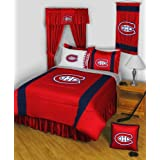 Montreal Canadiens 4 Pc KING Comforter Set and One Matching Window Valance/Drape Set (1 Comforter, 2 Shams, 1 Bedskirt, 1 Matching Window Valance/Drape Set) SAVE BIG ON BUNDLING! by Sports Coverage