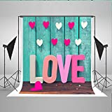 5x7ft Wood Board Wall Backdrops Photography Valentine'S Day Pink Love Photo Studio Props Background For Shoot Kate YY00120