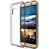 HTC One M9 Case : Stalion® [Hybrid Bumper Series] Shockproof Impact Resistance (Diamond Clear) Ultra Slim Fit with Diamond Clear Back + Raised Edges for Protection