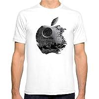 Style wei Coton Respirant Eté Homme T-Shirt d'Apple patinée T-Shirt imprimé Tendance Coton Hauts for Hommes Manches Courtes T-Shirt Polos