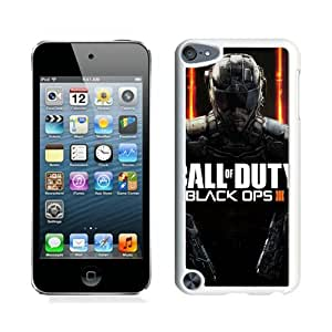 2015 Newest Call Of Duty Black Ops Black Ops Iii White Customized iPod Touch 5 Phone Case