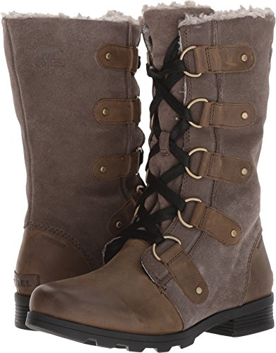 SOREL Women's Emelie Lace Boots, Major/Black, 7.5 B(M) US by SOREL