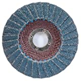 4 1/2'' × 1/4'' × 7/8'' Flap Disc Type 29 Conical 60 Grit (Pack of 10)