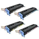 TonerBoss Remanufactured Toner Cartridge Replacement for HP 124A ( Black,Cyan,Magenta,Yellow , 4-Pack )