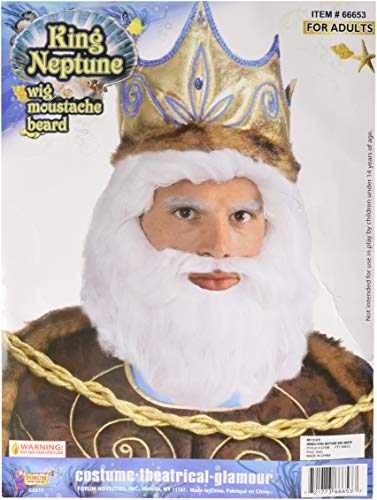 Forum Novelties Men's King Neptune Wig, White, One Size ()