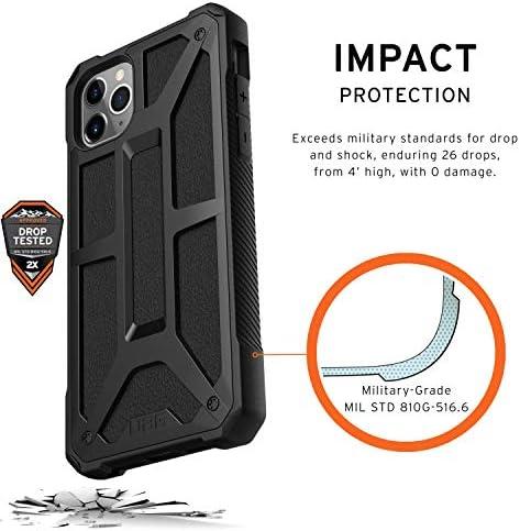 Carcasa Protector Case Compatible con Carga Inal/ámbrica, Ultra Resistente Slim Cover, Cuero Urban Armor Gear Monarch Funda Apple iPhone 11 6.1 - negro