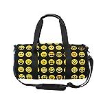 Use4 Yellow Emoji Emotion Face Travel Duffel Bag Sport Gym Luggage Bag for Men Women