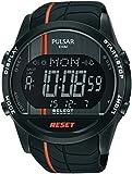 Pulsar - PV4009X1 - Montre Homme - Quartz - Digitale - Eclairage - Alarme - Chronomètre - Bracelet différents matériaux noir
