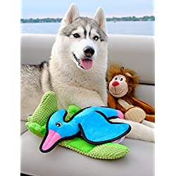 SmartPetLove Tender-Tuffs Crinkle - Prehistoric Plush Dog Toy - Flying Pterosaur