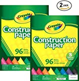 Crayola Construction Paper, Assorted Colors, 96 count (99-3000) (2 pack)