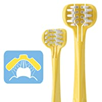 Children 3-Sided Toddler Toothbrush,Babyease Kids Toothbrush Soft Wrap-Around Baby...