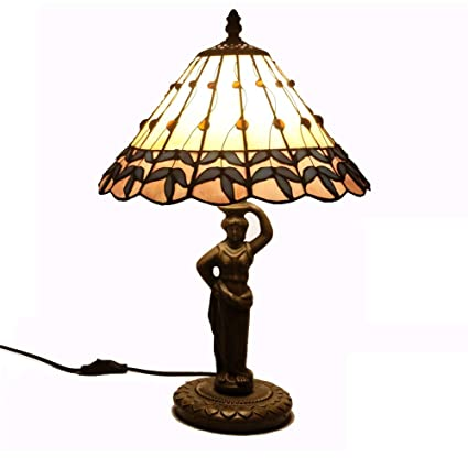 Nice Fumat Stained Glass Table Lamp European Style Heart Shape Lamp Bedside Glass Art Lamp Living Room Home Decor Led Table Lights Led Table Lamps