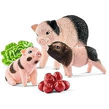 Schleich Miniature Pig Mother and Piglets (5 Piece)