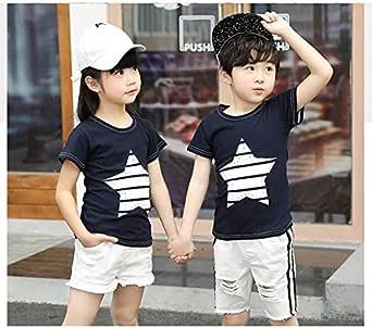 Youth Boy Star T-Shirt Gift for Girl Kids Sea Marine Pirate Shirt Cotton