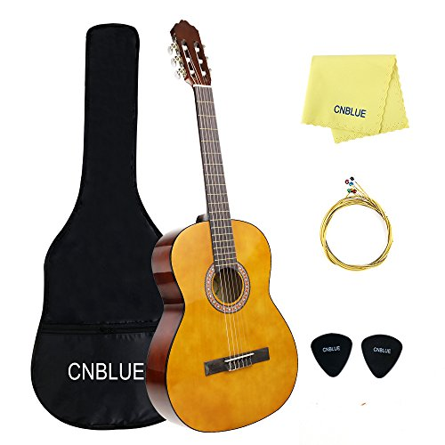 Classical Guitar Acoutstic Guitar Kids 3/4 Size 36 inch Nylon Strings Guitar Starter Kits for Beginners Students