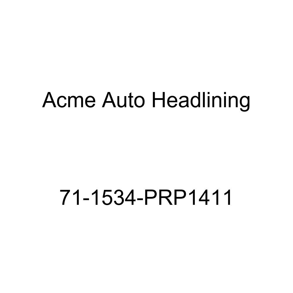 6 Bow Acme Auto Headlining 71-1534-PRP1411 Maroon Replacement Headliner 1971 Pontiac Ventura 4 Door Coupe