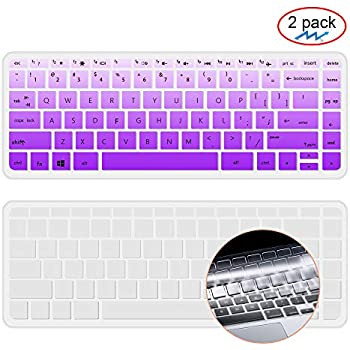 [2 packKeyboard Cover Skin Compatible HP Stream 14 Inch Laptop,HP Stream 14-ax Series,14 inch HP Pavilion,Keyboard Protector Cover Skin for HP 14 ...