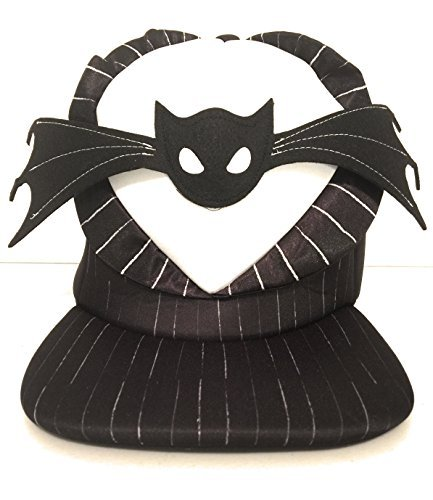 Disney Parks Jack Skellington Nightmare Before Christmas Bat Bowtie Flat Brim Hat]()