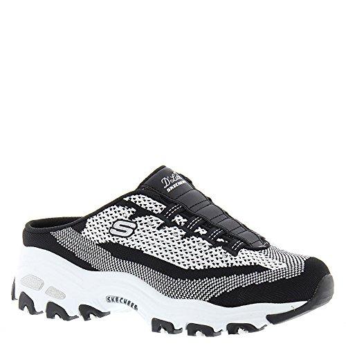 Skechers Sport Women's D'Lites a New Leaf Fashion Sneaker, Black/White Knit, 7 M US ()