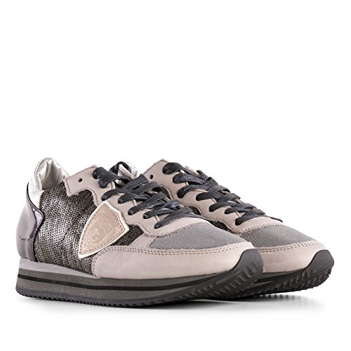 Philippe Model Sneakers Donna THLDLP36 Paillettes Grigio