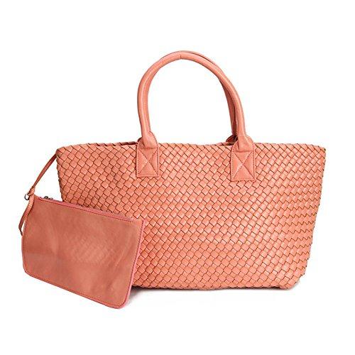 Otomoll De Couleur Luxe Cuir Femmes tout Mode Premium Pink Red Sacs Sac Bonbon Main Simili Fourre Grand Bandoulière À qq65wgErx