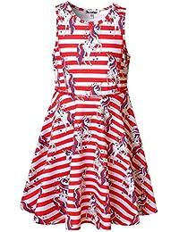 6ba15ec150ec Girls Summer Dress Sleeveless Printing Casual/Party 3-13Years