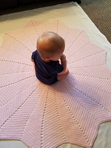 Solid Color Starburst Baby Afghan, Security Blanket, Crochet blanket, Baby Shower Gift, Baby gift, Photo Prop, Nursery blanket, baby, baby girl/boy, gender neutral, newborn, toddler - Made to Order by The Crafty Little B