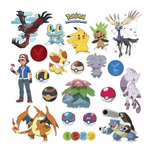 POKEMON XY 24 Wall Decals Room Decorations Pikachu Pokeball Boys Decor (Clear Pokeball)
