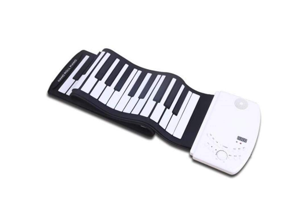 CE-LXYYD 88-Key Portable Hand roll Piano, Lithium Battery Rechargeable Stereo Waterproof Silicone Electronic Piano,with MP3, is The Best Gift for Friends and Family,White by CE-LXYYD