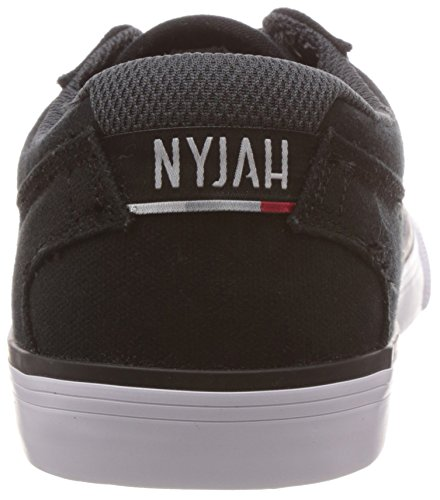 DC Shoes Nyjah Vulc Tx, Herren Sneaker, Black/White, 42.5 EU