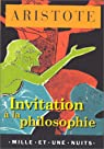 Invitation à la philosophie par Aristote
