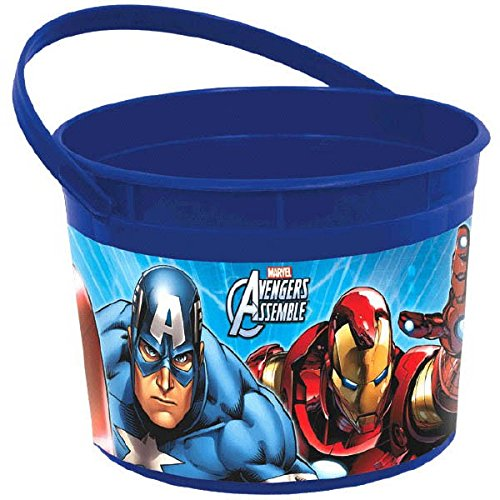 Amscan Avengers Birthday Party Plastic Favor Container, 1/2