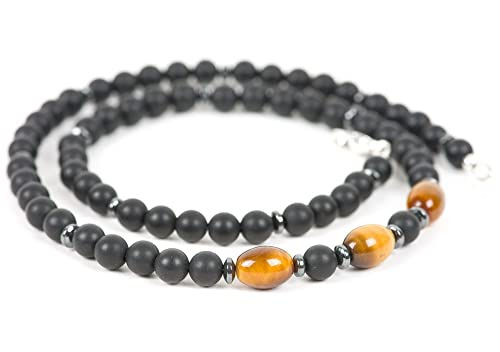 Tigers Eye Necklace Tiger Eye jewelry Tigers Eye Pendant Protection necklace Grounding Healing Crystals Mens Necklace
