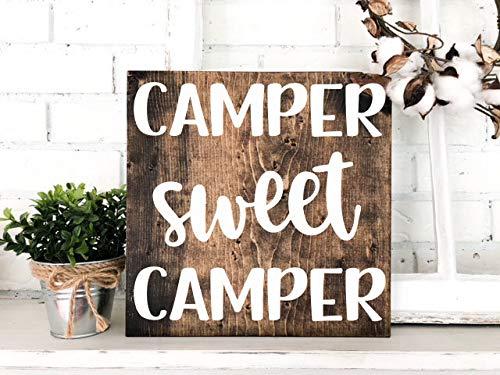 camper sweet camper sign - 2