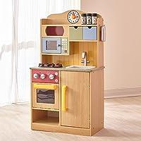 Teamson Kids - Cocina con accesorios de juguete de madera Little Chef - Burlywood