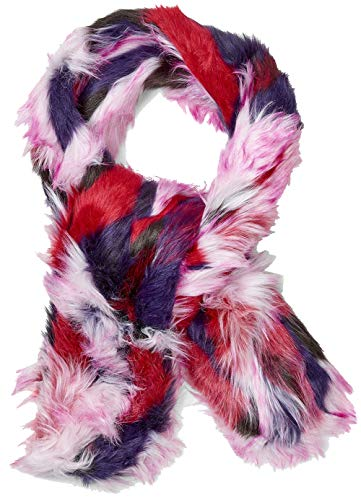 UGG Women's Faux Fur Patchwork Scarf Black Multi One - Wrap Ugg
