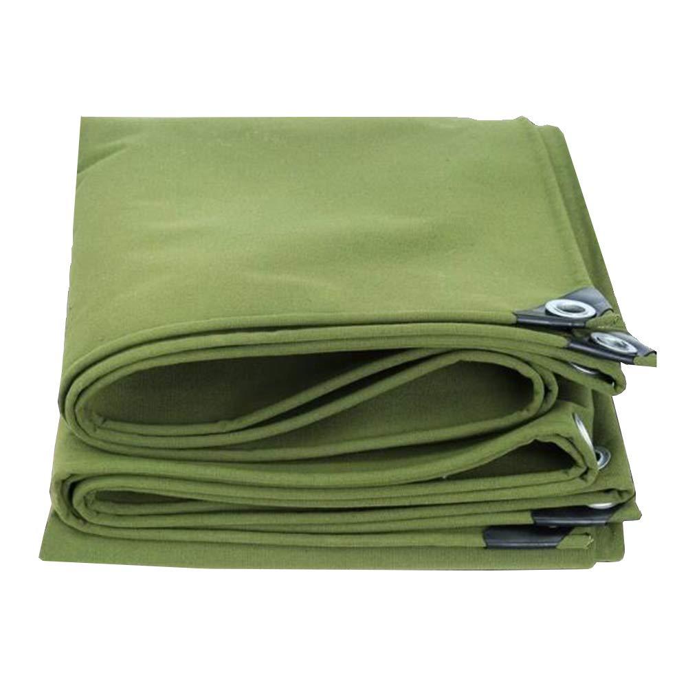 MuMa Telone Addensare Protezione Solare Impermeabile Impermeabile Resistente Mulino Copertina Pioggia (colore   verde, Dimensioni   3  5M)