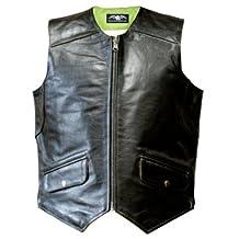 Missing Link Men's D.O.C. Reversible Safety Vest (Black/HiViz Green, XXX-Large)