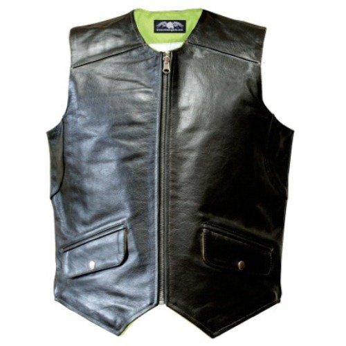 - Missing Link Men's D.O.C. Reversible Safety Vest (Black/HiViz Green, Small)