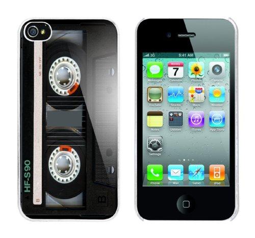 Iphone 4 Case Kassette v2 Rahmen weiss