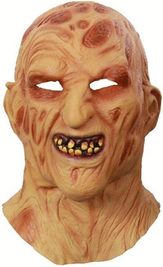 fdsgh Decoración de Halloween Cosplay Freddy Krueger Máscara ...