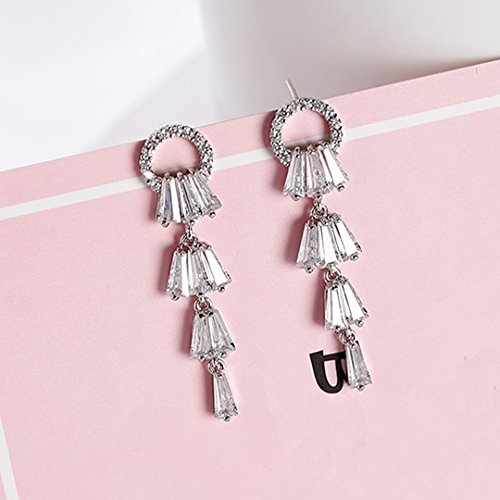 Acorn Drop Earrings (High-Season 2017 Statement Jewelry Geometric Rhinestone Pendientes Mujer Moda Simple Shiny Cute Circle Charm Drop Earrings Boucle D'oreille)