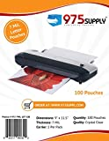 975 Supply - 7 Mil Clear Letter Size Thermal Laminating Pouches - 9'' X 11.5'' - 100 Pouches