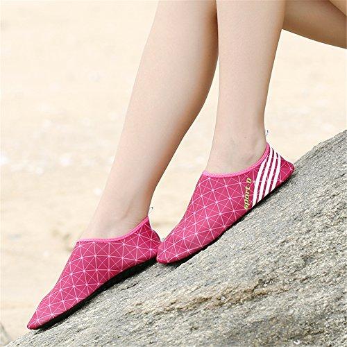 SAGUARO Mens Womens Quick Drying Barefoot Water Skin Shoes Aqua Socks Rose Red WayBzcWG8