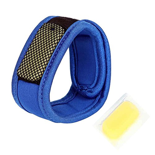Safe-O-Kid Baby Safety Inc. Reusable Comfortable Fabric Mosquito Repellent Band (Blue)
