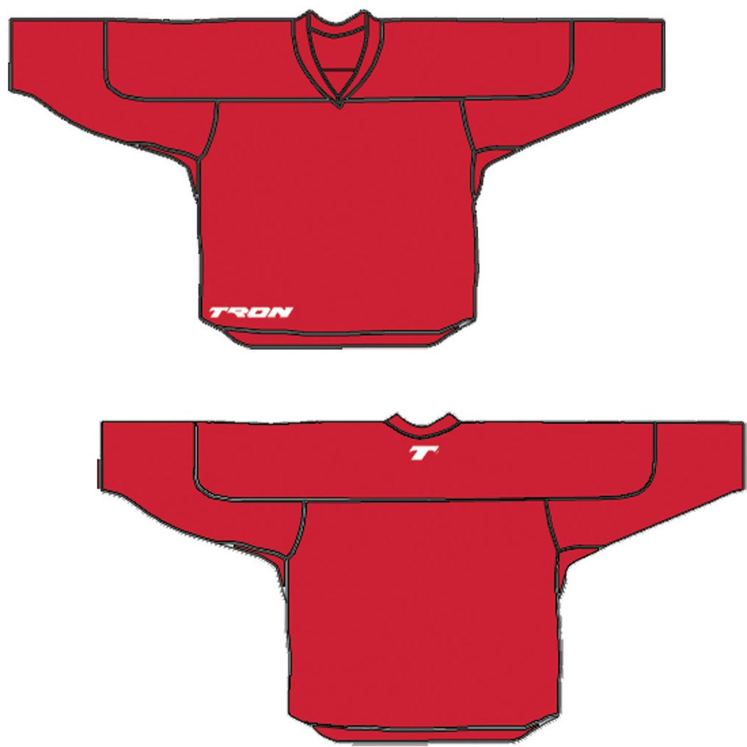 14252bab7 Amazon.com   Tron DJ100 Dry Fit Hockey Jersey (Red)   Practice Hockey  Jerseys   Sports   Outdoors