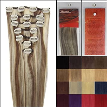 Amazon Com 18 Clip In Remy Human Hair Extensions 70g 7pcs 8 613