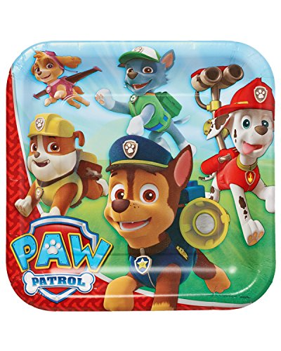 American Greetings Paw Patrol Party Supplies Paper Dinner Plates, 8-Count]()